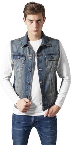 Gr/ö/ße Farbe Urban Classics Jeansweste Denim Vest lightblue S