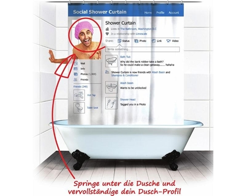 Soziales Netzwerk - Duschvorhang