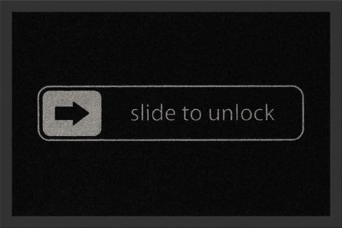 Slide to unlock, Fußmatte
