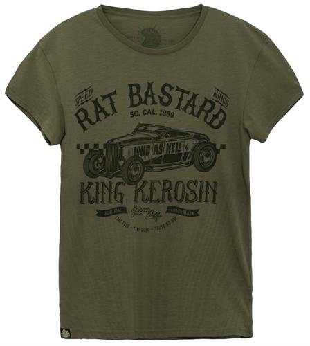 King Kerosin - Rat Bastard, T-Shirt oliv