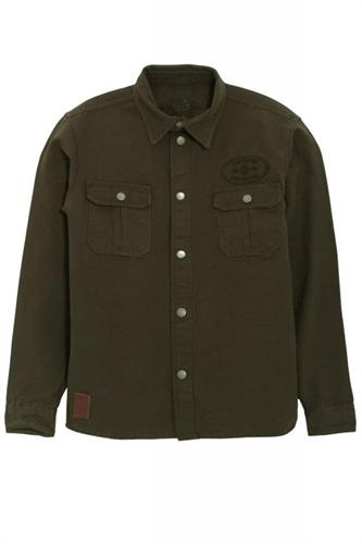 King Kerosin - Lumberjack, Vintage-Canvas-Shirt Oliv