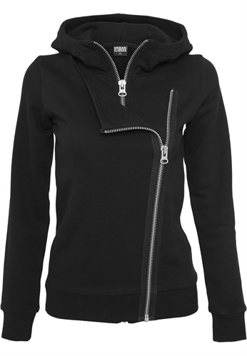 Urban Classics - Ladies Biker Sweat Jacket, Girl-Kapuzenjacke