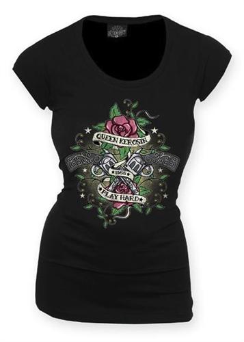 Queen Kerosin - Play Hard, Girl-Shirt