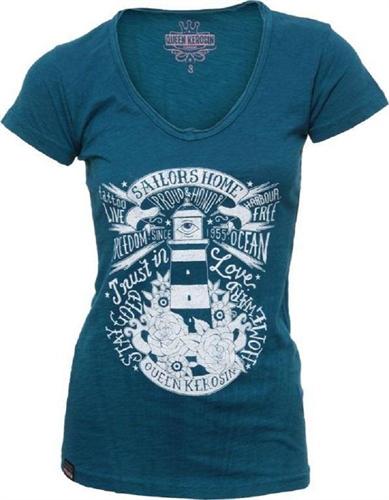 Queen Kerosin - Sailors Home, Vintage-Girl-Shirt