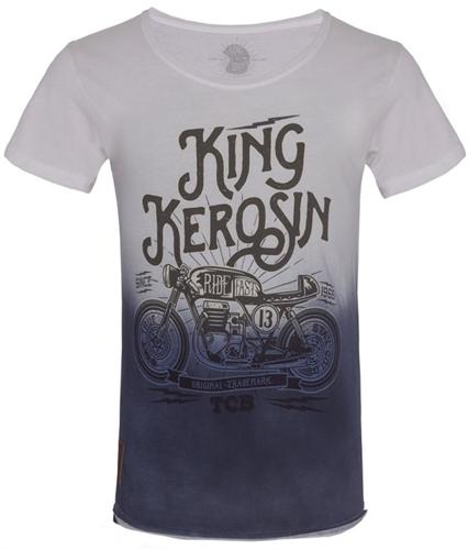 King Kerosin - TCB, T-Shirt batik blau