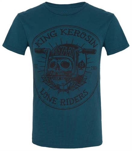 King Kerosin - Lone Riders, T-Shirt blau