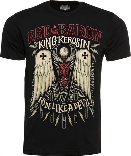 King Kerosin - Legendary Red Baron, T-Shirt schwarz