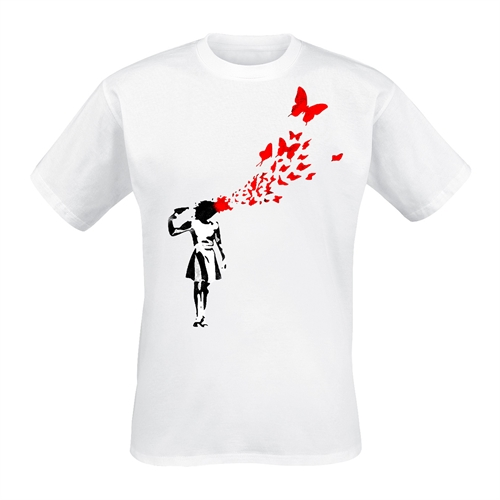Banksy - Butterfly Suicide, T-Shirt
