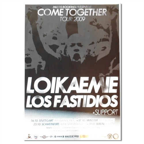 Loikaemie/Los Fastidios - Tour, Poster