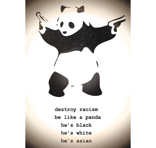 Banksy - Destroy Racism, Poster
