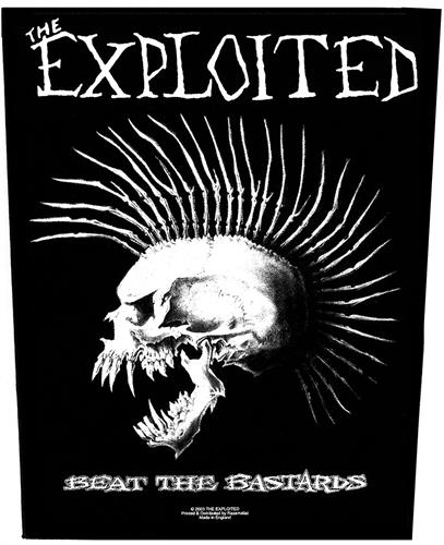 Exploited - Beat The Bastards, Rückenaufnäher