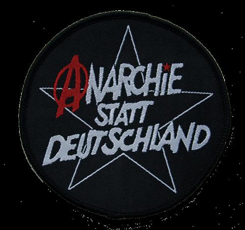 Anarchie statt Deutschland - Aufnäher