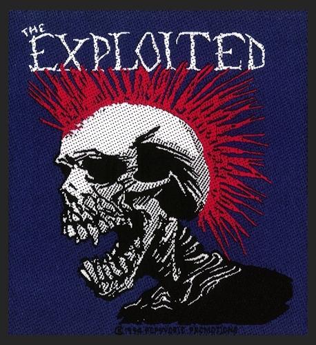 Exploited - Multicolour Mohican Skull, Aufnäher
