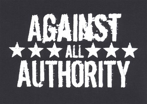 Against all Authority - Aufnäher