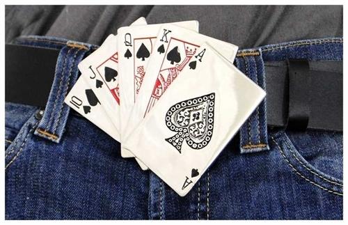 Poker Karten - Gürtelschnalle