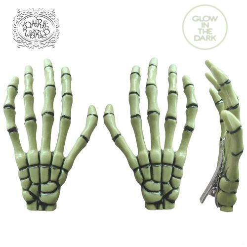 Skullhands - Glow, Haarspangen
