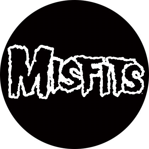 Misfits - Schriftzug, Button