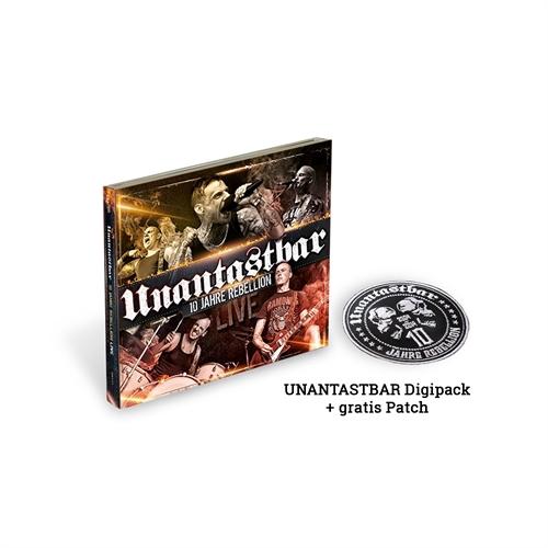Unantastbar - 10 Jahre Rebellion-Live, 2CD+DVD + Aufnäher