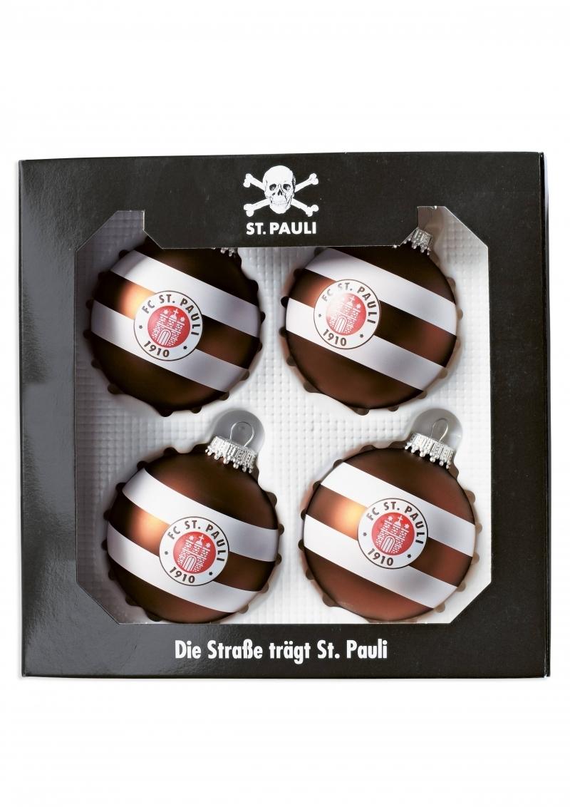 Christbaumkugeln Gestreift.St Pauli Logo Christbaumkugeln Nix Gut Mailorder