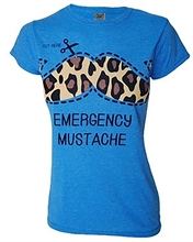 Darkside - Emergency Mustache, Girl-Shirt