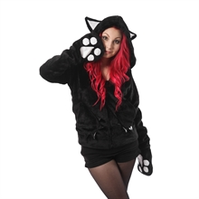 Cupcake Cult - Angel Kitty, Hood Pl�schfell-Jacke