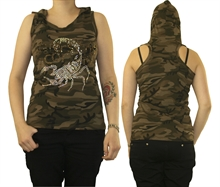 Good Luck - Camouflage Skorpion, Girl-Top