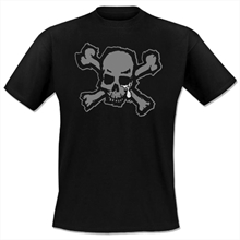 Blood for Blood - Black Skull, T-Shirt