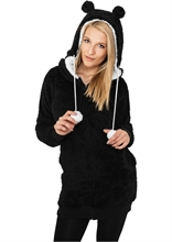 Urban Classics - Ladies Long Teddy Zip Hoody, Girl-kapuzenjacke