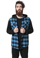 Urban Classics - Checked Flanell Sweat Sleeve Shirt, Hemd