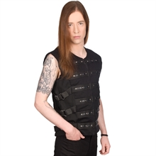Black Pistol - Button Vest Denim, Weste