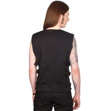 Black Pistol - Button Vest Denim, Weste