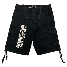 Love Music - Hate Fascism, Vintage Shorts