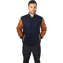 Urban Classics - Wool Leather Button Jacket, Collage-Jacke