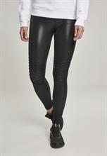 Urban Classics - Ladies Faux Leather Biker Legging