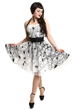 VixxSin - Dark Crow Dress, Kleid