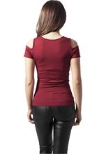 Urban Classics - cutted Soulder Tee, Girl-Shirt