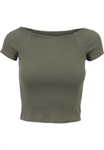 Urban Classics - Off Shoulder Rib Tee, Girl-Shirt