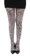 Strumpfhose - Furry Leopard gro�