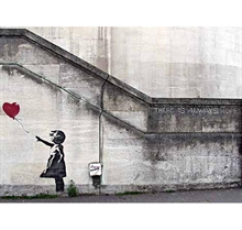 Banksy - Hope Girl with Red Balloon, Poster