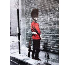 Banksy - Queens Guard, Poster