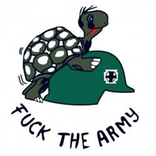 Fuck the army - Aufkleber