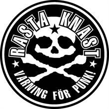 Rasta Knast - Skull/Varning, Aufkleber