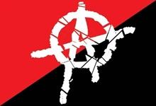 Anarchy - Schwarz/Rot, Fahne