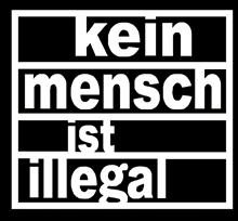 Kein Mensch ist Illegal - Aufnäher