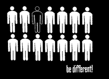 Be different - Aufnäher