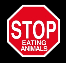 Stop Eating Animals - Aufnäher