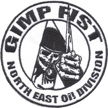 Gimp Fist - North East Oi! Division, Aufnäher