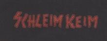 Schleimkeim - Schriftzug, Aufnäher