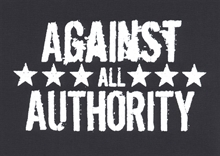 Against all Authority - Aufnäher