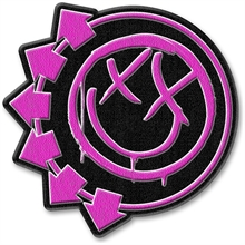 Blink 182 - Pink Neon Six Arrows, Aufnäher